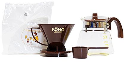 KONO式カラードリップセット(3〜4人用)